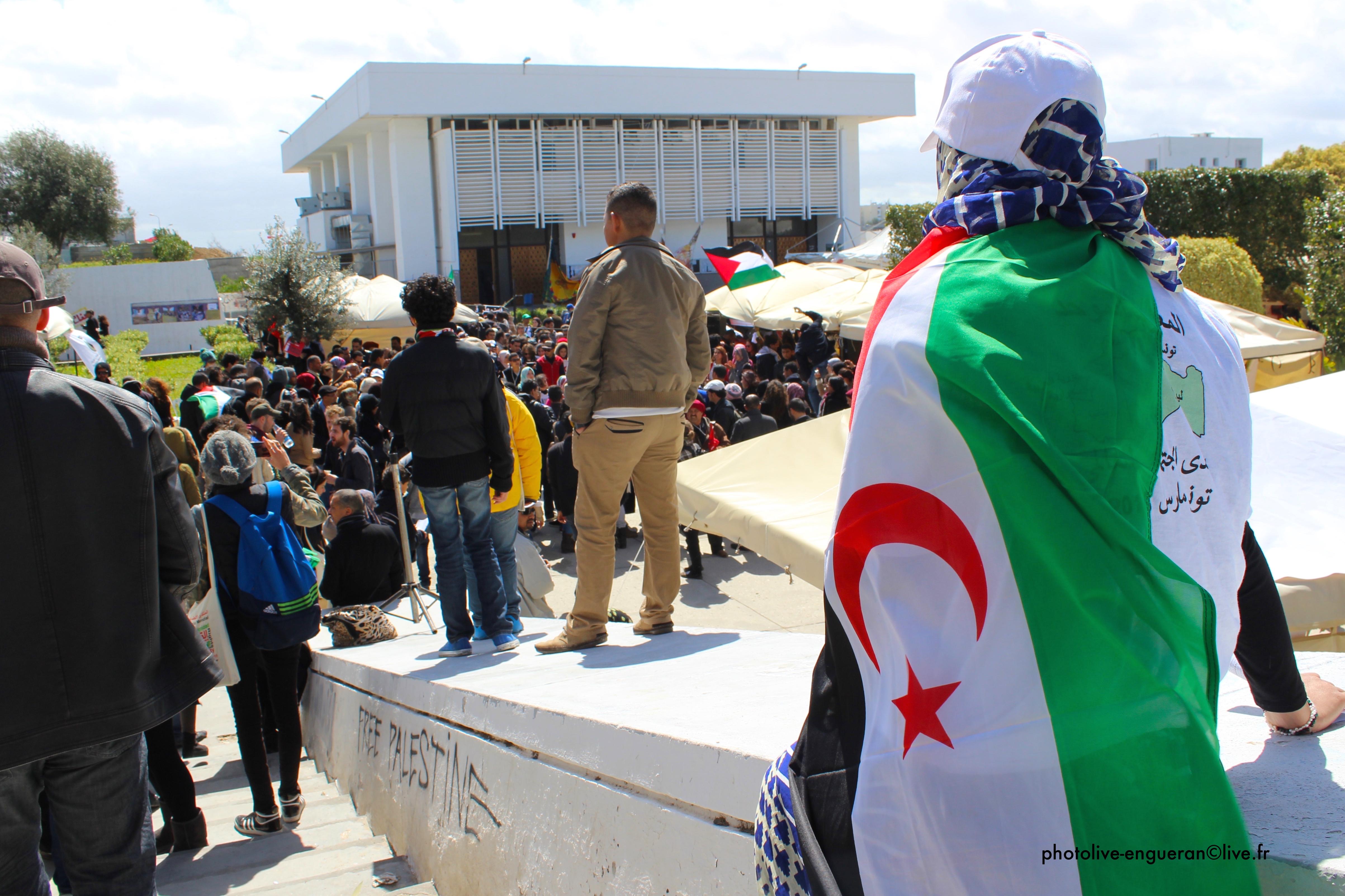 Marche d'ouverture du 12ème Forum Social Mondial à Tunis