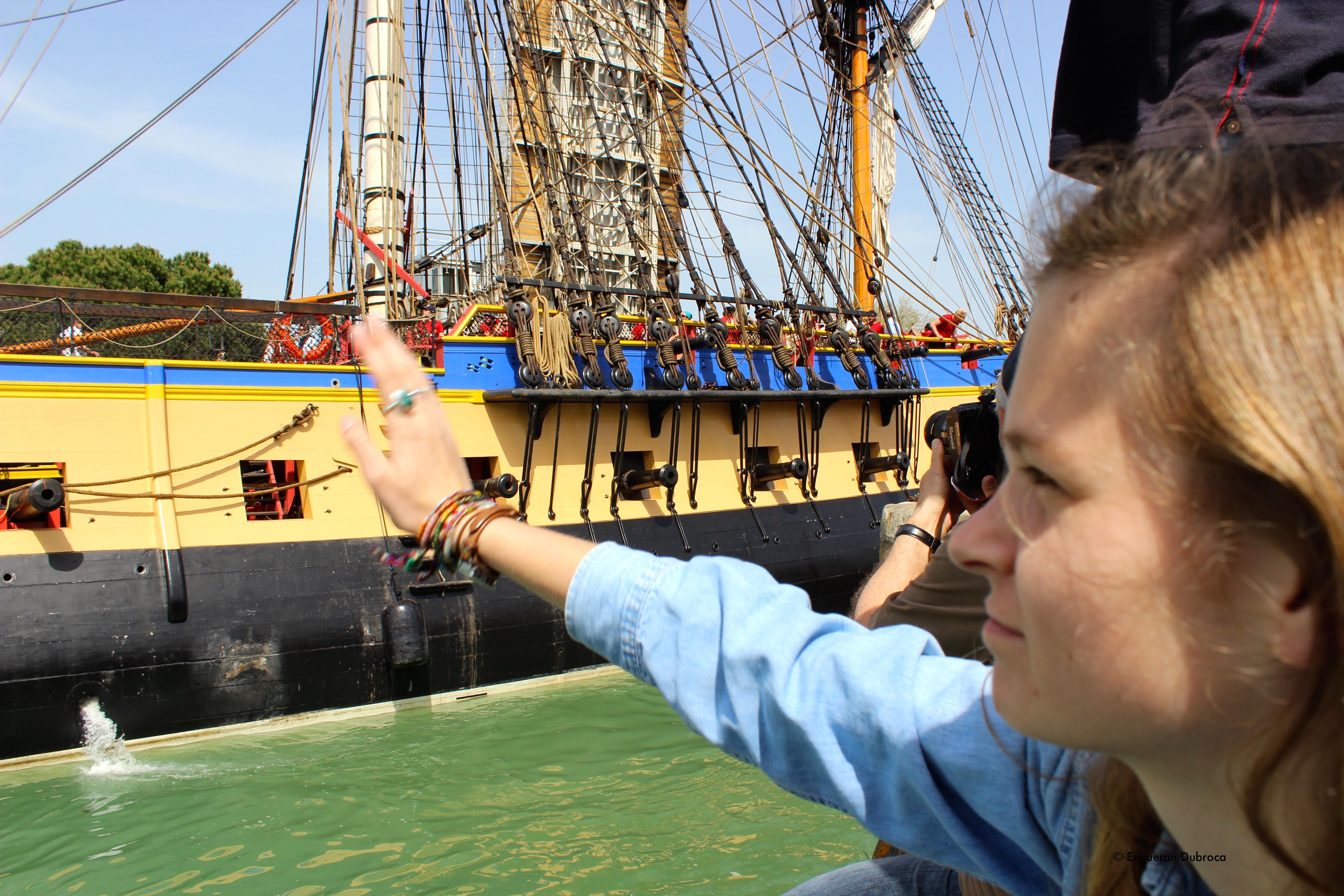 Hermione, Frégate Hermione La Fayette, La Rochelle. Cap au states pour l'Hermione.